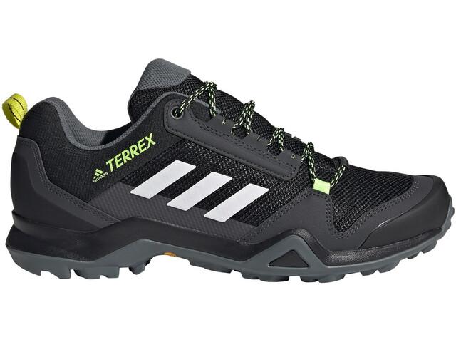 adidas TERREX AX3 Scarpe da trekking Leggero Uomo, core black/footwear white/acid yellow